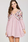 BOHEMIAN DREAM CATCHER DRESS - MAUVE
