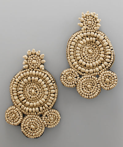 THE QUEEN BEAD EARRINGS