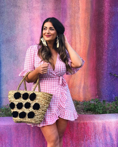 PRETTY AS PICNIC GINGHAM DRESS