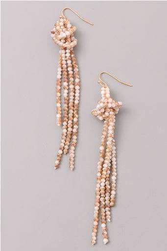 FORGET ME KNOT BEADED CRYSTAL EARRINGS