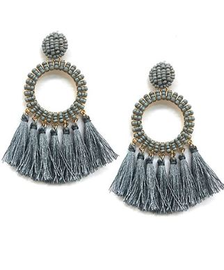 AUBREY EARRINGS : GREY