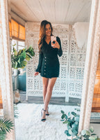 DRESSED TO KILL BUTTON DOWN DRESS