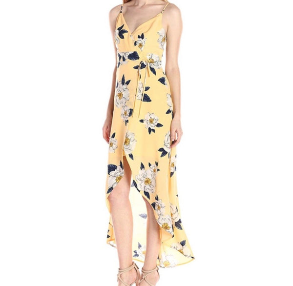 J.O.A Spring Pursuit Hi Low midi dress