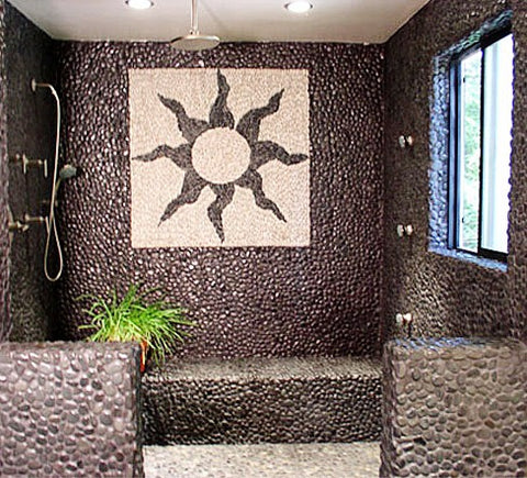 Natural Bali Brown Pebble Tile