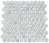 "Image of 1"" Carrara Marble Hex Mosaic"