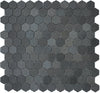 "Image of 1"" Hexagon Basalt Mosaic Tile, 11"" x 11.5"""