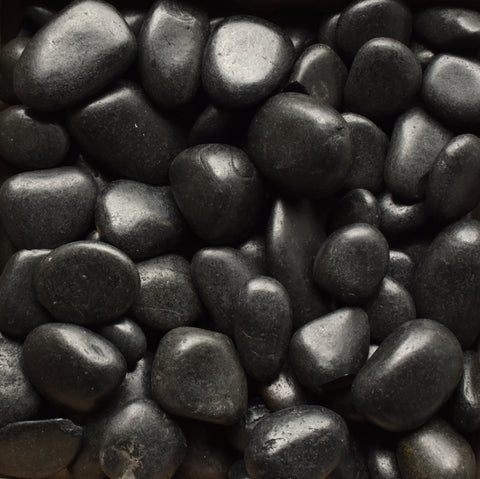 Black Polished Pebble 1 ½-2 ½""