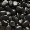 Image of Black Polished Pebble 1 ½-2 ½""