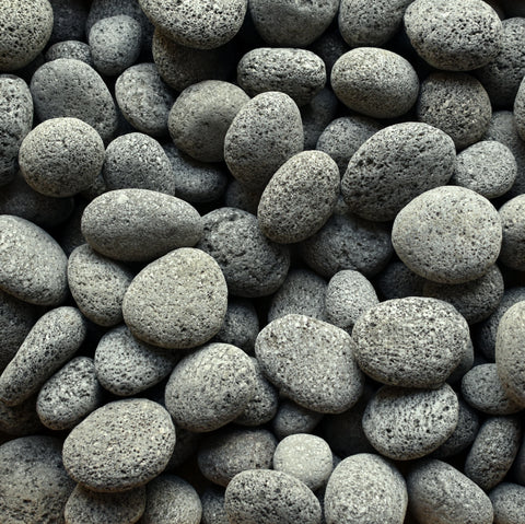 Black Lava Beach Pebble 1-2""