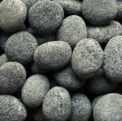 Black Lava Beach Pebble 2-4""