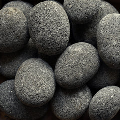 Black Lava Beach Pebble 4-6""