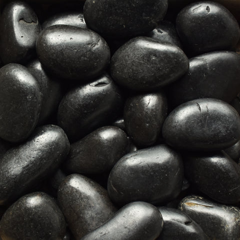 Black Polished Pebble 3-5""