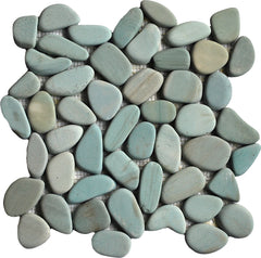 Sliced Aqua Pebble Tile
