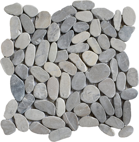 Sliced Grey Pebble Tile