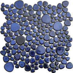 Porcelain Cobalt Pebble Tile