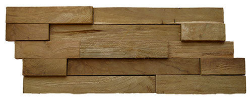 """Recycled Teak Natural 1 1/2"""" Cladding"""