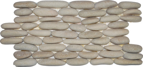 "Standing Tan Pebble Tile, 6""x12"""