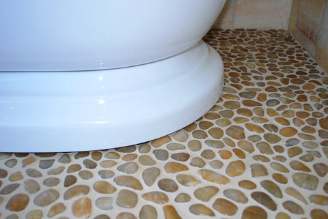 Polished Yellow Pebble Tile