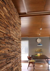 Recycled Teak 3D Cladding