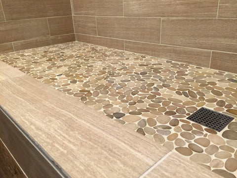 Sliced Tan Pebble Tile