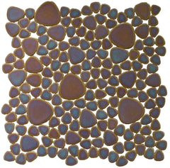 Porcelain Sunset Pebble Tile