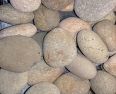 Buff Mexican Beach Pebble 1-2""