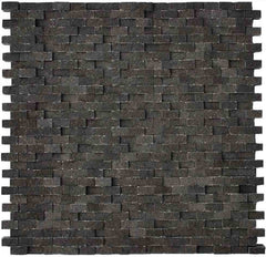 "Natural Break Basalt Mosaic Tile, 11.75"" x 11.75"""