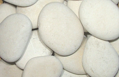 Ivory Seaside Beach Pebble, 3-5""