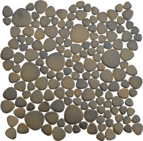 Porcelain Antique Bronze Pebble Tile