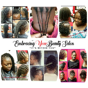 Take a look at what our Kinky Bulk Hair can do!