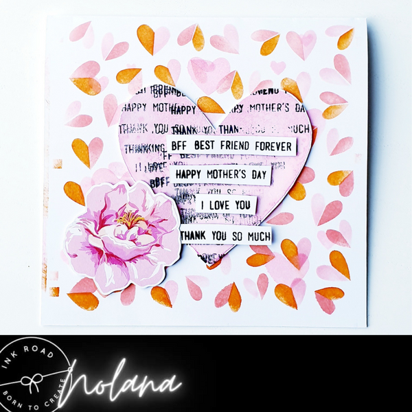 Mother's Day Card Using Sentiment Strips