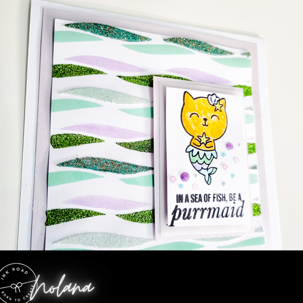 In A Sea of Fish Be A Purrmaid Greeting Card