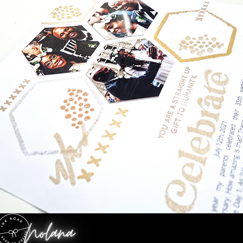 embossed celebrate scrapbook page