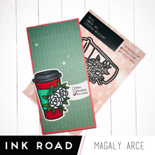Load image into Gallery viewer, BASICS: Floral Coffee To Go Cup - Stamp & Die Set