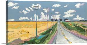 """Bates Road"" Lindy Bishop painting reproduction"