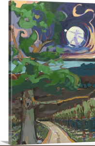 """Goodnight Moon"" Lindy Bishop painting reproduction"