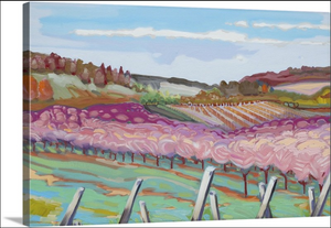 """Leelanau Vineyard"" Lindy Bishop Painting Reproduction"