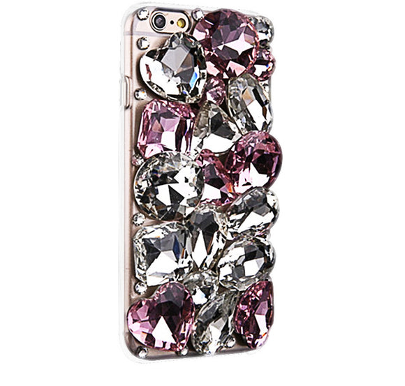 Pink Princess Crystal Cell Phone Case