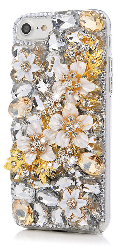 Golden Glitz Crystal Cell Phone Case