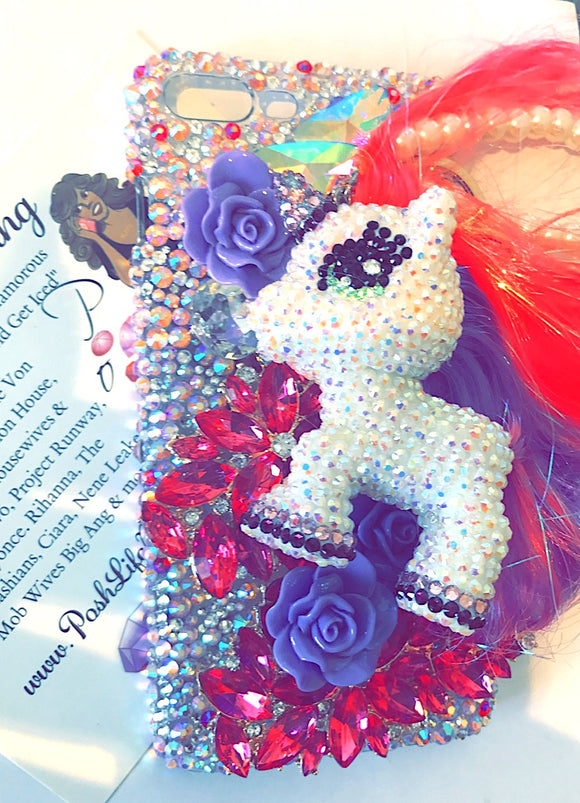 Unicorn Pony 3d Bling Phone Case