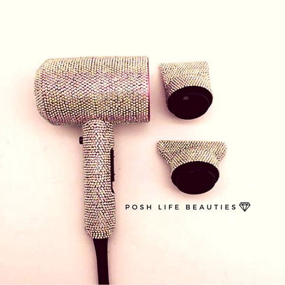 PoshLifeBeauty Crystal Hair Dryer