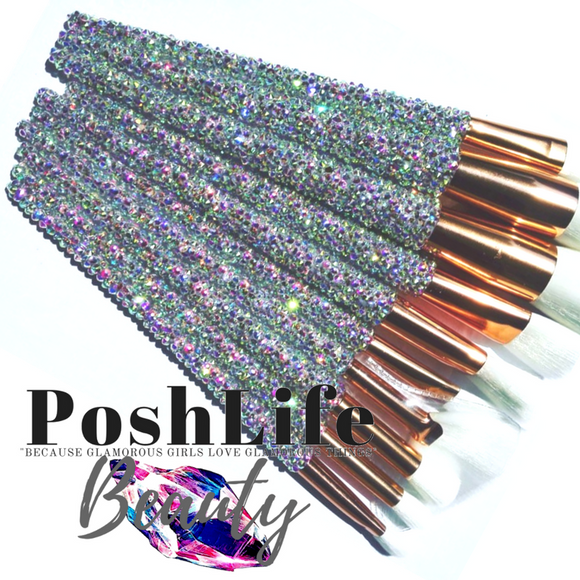 PoshLife Beauty Crystal Makeup Brush Set