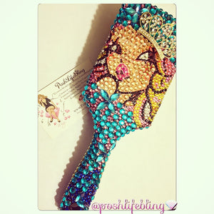 Vegas Posh Princess Bling Beauty Hairbrush