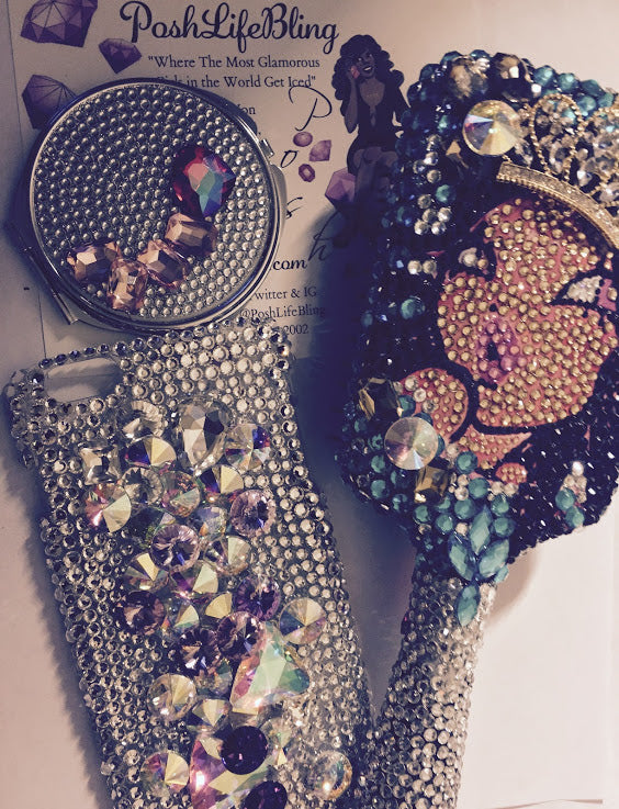 Jersey Girl Posh Princess Bling Beauty Hairbrush