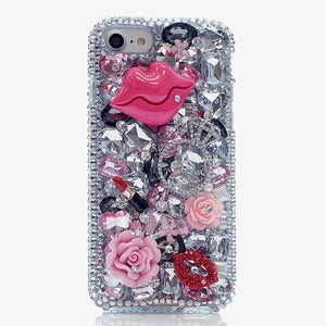 Luscious Lips Bling Crystal Cell Phone Case