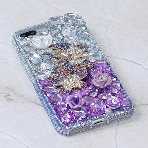 Purple Rayne Crystal Cell Phone Case