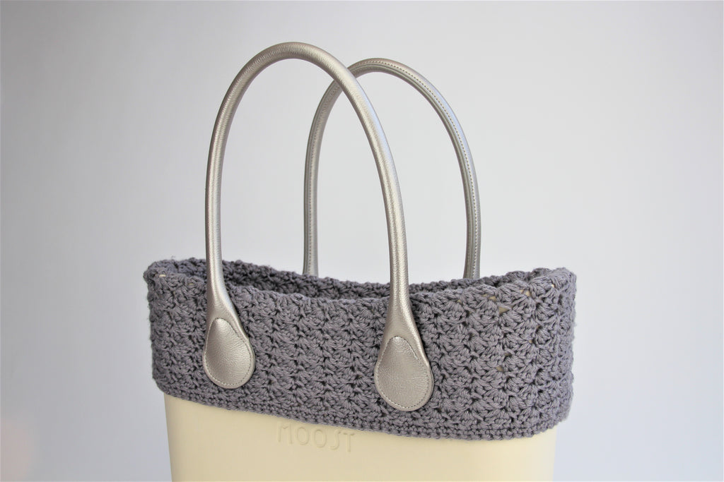 Gray Crocheted Trim