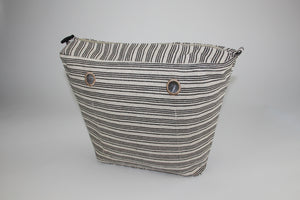 Striped Interwoven Linen Inner Bag