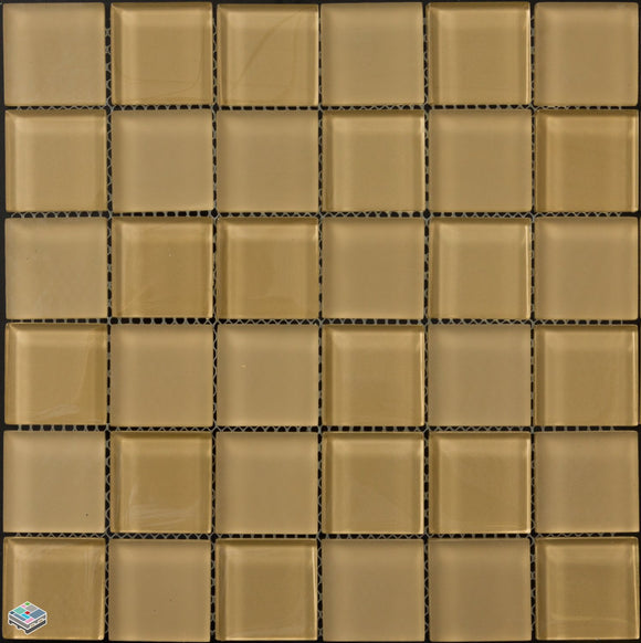 Brown Glass 2x2 Mosaic Tile