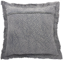 "Load image into Gallery viewer, Mina Victory Life Styles Waffle Stonewash Grey Throw Pillow BX056 1'10"" x 1'10"""
